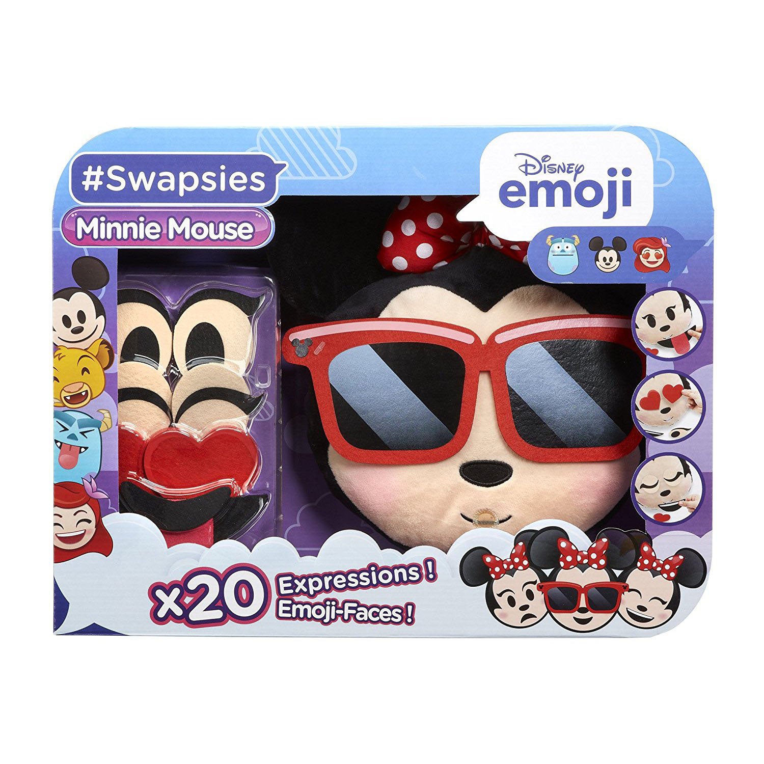 Disney Emoji Swapsies Minnie Mouse Plush Toy