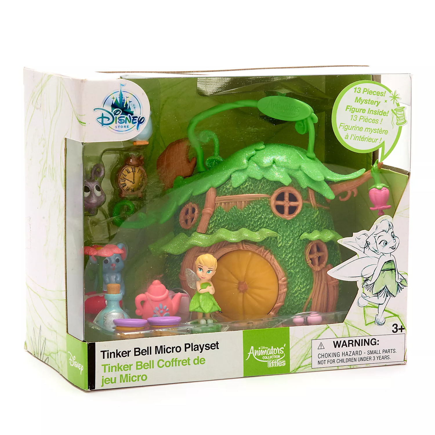 Tinker Bell Micro Playset Disney Animators' Collection Littles