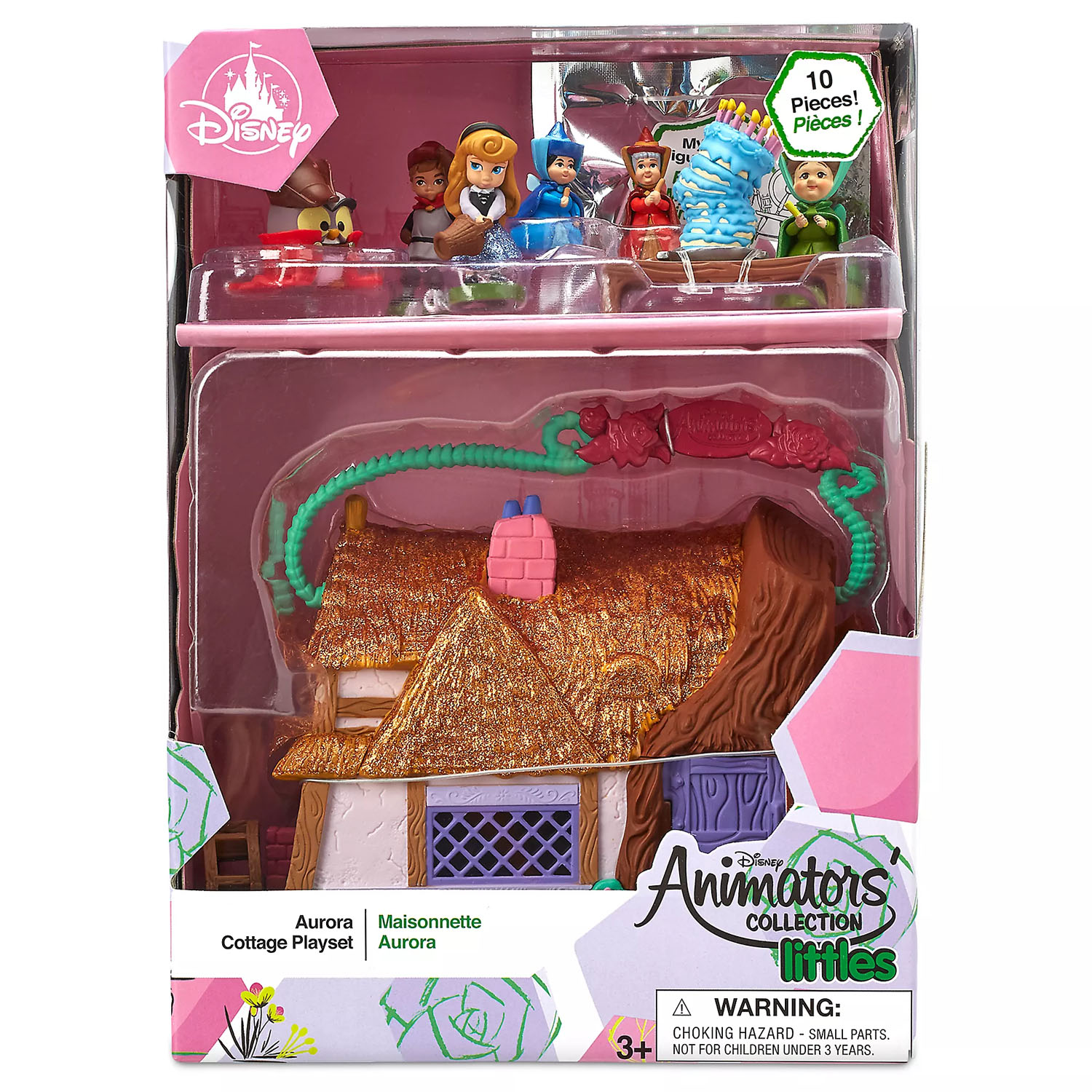 Sleeping Beauty Aurora Cottage Animators' Littles Playset Disney