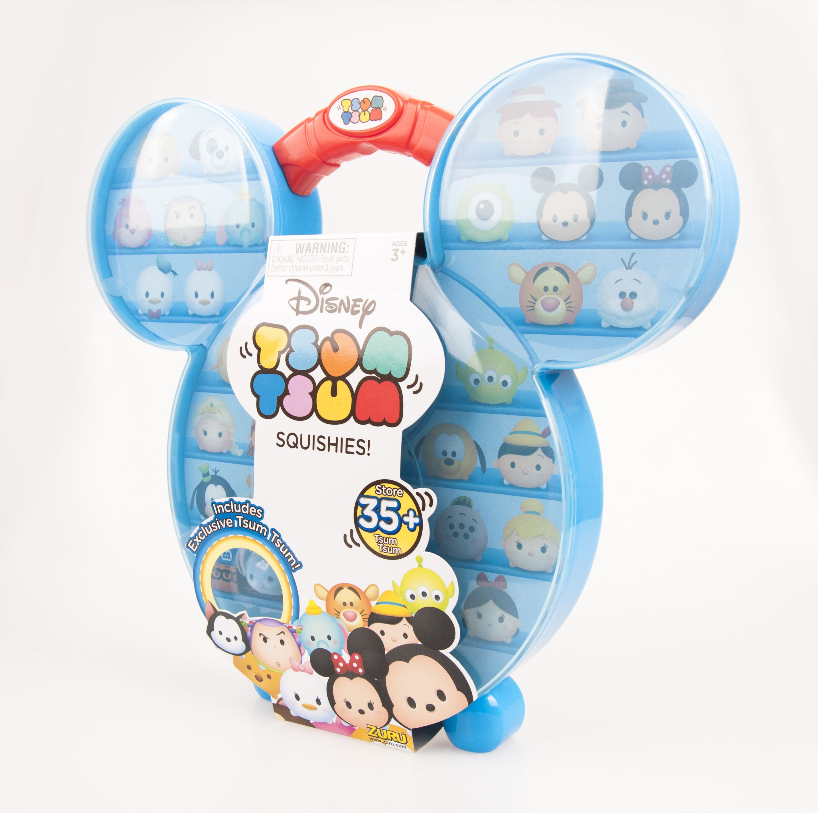 Disney Tsum Tsum Squishies Carry Case With Bonus Pack Fuzzy Feel