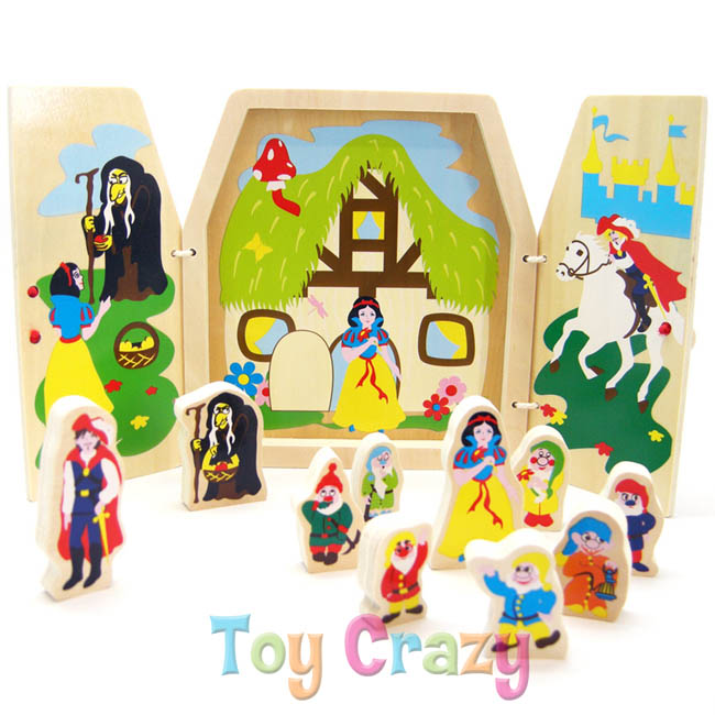 Kaper Kidz Wooden Snow White Story Play Set