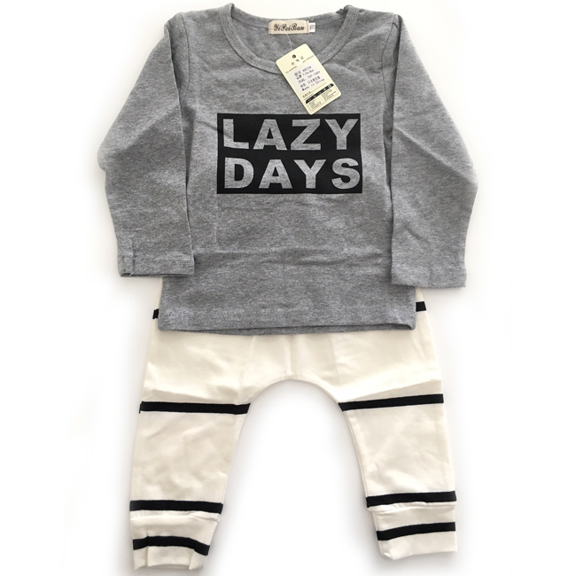 Baby Boy Girl Unisex Grey Black White Top & Pant Set Size 6m