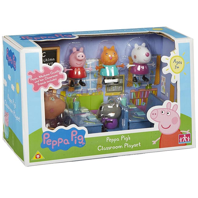 Peppa Pig's Classroom Playset with Madame Gazelle