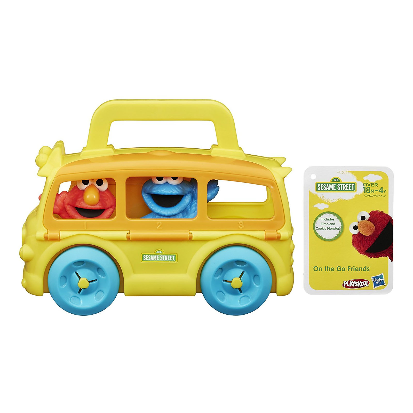 Playskool Sesame Street On the Go Bus with Elmo & Cookie Monster