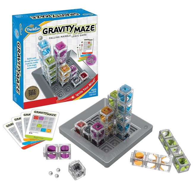 ThinkFun Gravity Maze Falling Marble Logic Game