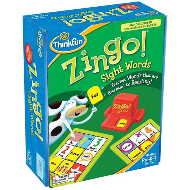 ThinkFun Zingo Sight Words Educational Teaching Word Game