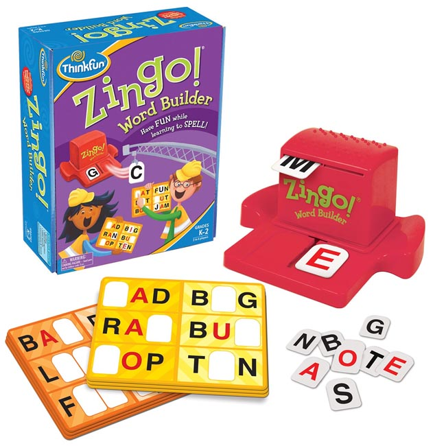 ThinkFun Zingo Word Builder Educational Spelling Game
